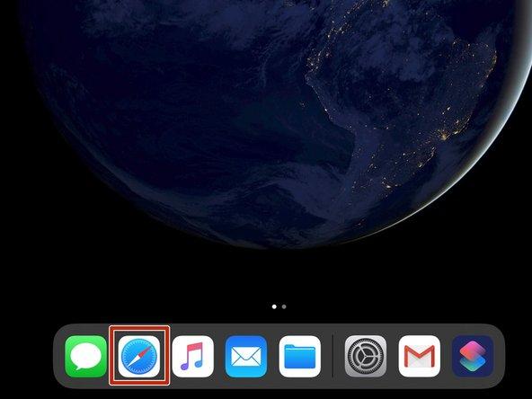 Tap the Safari icon to open Safari.