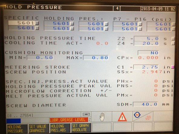 Check machine conditions: