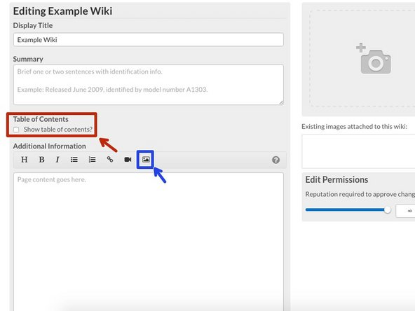 Now you are able to create your Wiki Page.