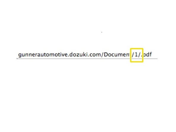 The document number can be found by hovering over the document link.