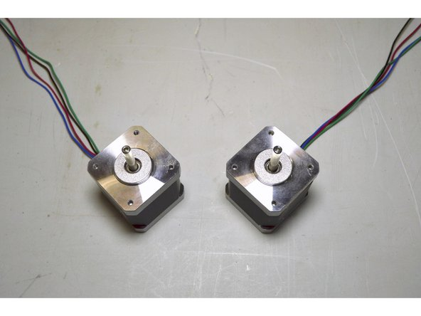 Place motors as shown in picture
