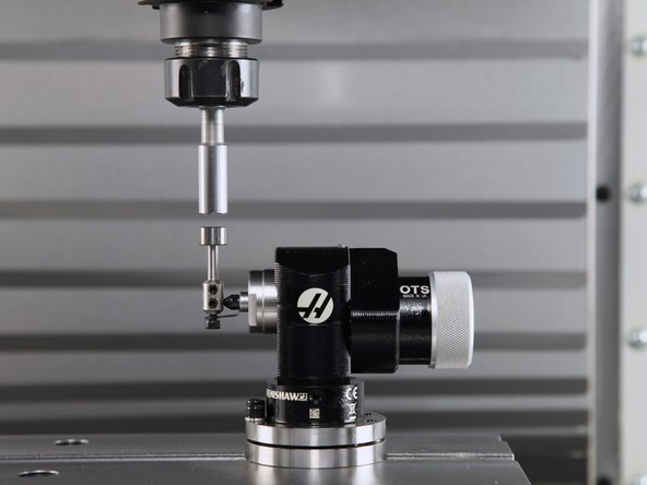 Follow the on-screen prompts. Jogging Z-axis, bring the calibration bar just above the tool probe, and press F1.