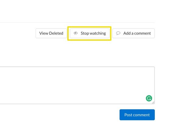 Simply click the Watch button and you will receive a daily email of new comments and replies.