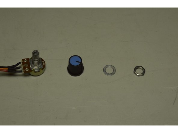 Disassemble the knob from the spindle speed controller