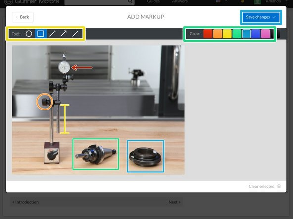 Move your curser over your new guide step image, then click the Edit button in the bottom right corner.