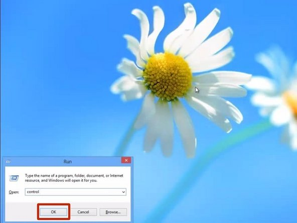 """Open up a Run window by hitting the """"R"""" key while holding the """"System"""" (Windows) key."""