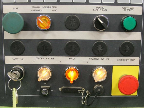 """Turn on power to the control by rotating the """"Control Voltage"""" button clockwise."""