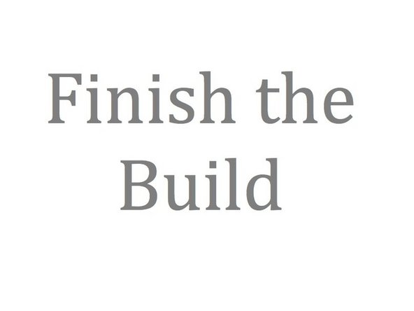 Click the Finish button in the builder view.