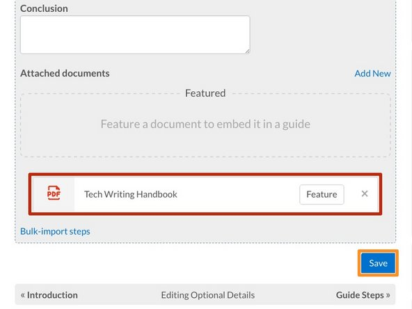 Confirm that the PDF has been attached by viewing it in the Attached Documents section.