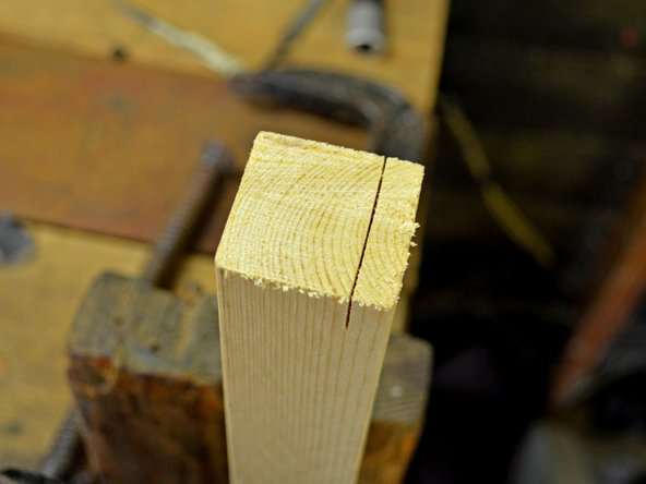 Image 2/2: After you're satisfied with the depth of cut, it will look something like the second picture on this step.