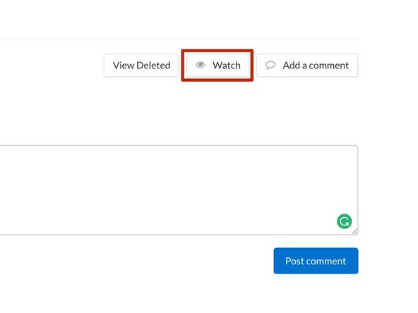 If you'd like to receive email notifications for new comments you will need to Watch the comments.