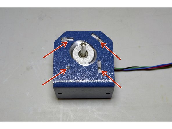 Place the Z-Motor Plate on top of the Z-Motor as indicated
