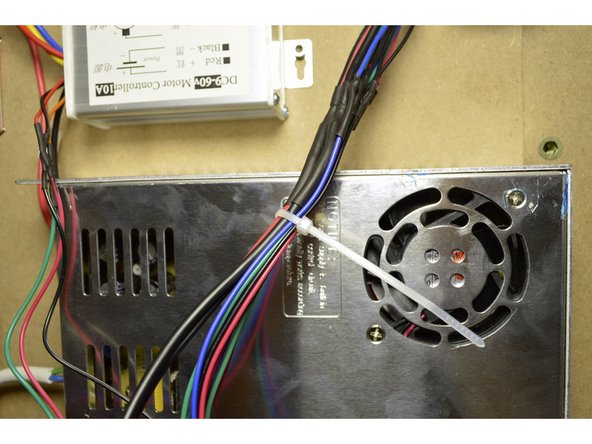 Tie the cables down as shown in the pictures