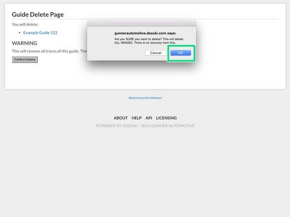 """Click """"Confirm Delete""""."""
