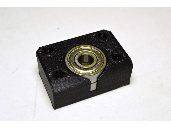 Insert the 608 bearings (2 Pcs) into the printed bearing block