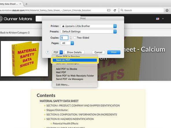 "On Firefox click ""PDF"" then ""Save as PDF""."