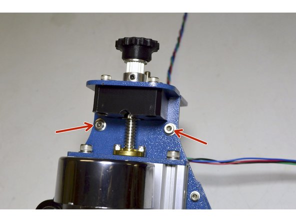 Mount the Z-Plate to the Z-Axis Assembly with the M4x16 Cap Screws (2 Pcs), M4 Washers (4 Pcs), M4 Lock nuts (2 Pcs)
