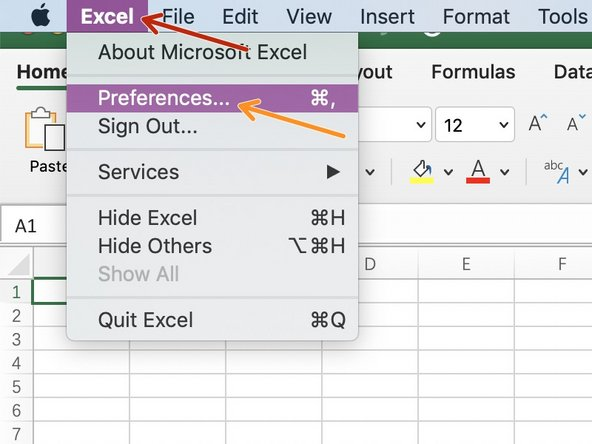 Open an Excel document