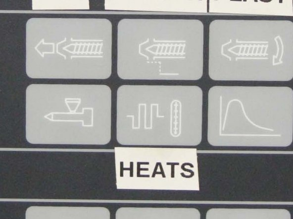 Turn on Cylinder Heating - rotate switch clockwise.  The lamp will glow when turned on.  Check set points and actual temperatures by depressing the heats icon in the upper portion of the control panel.