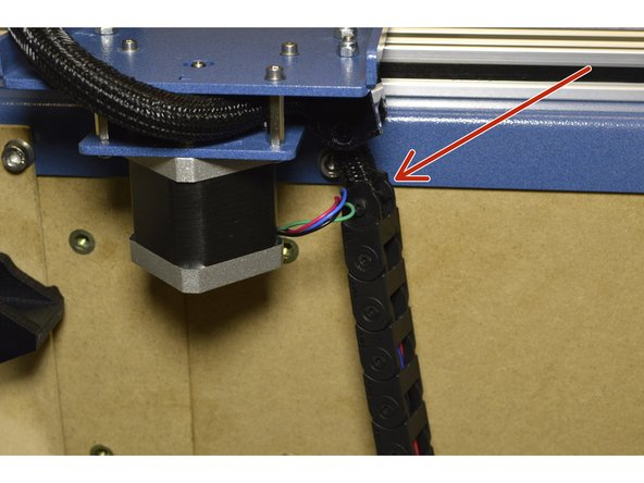 Pull all the X-axis cables through the one drag chain.