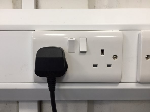 Before doing anything make sure the printers power supply is not plugged into the wall.