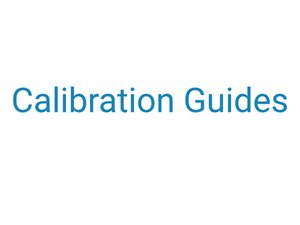 Calibration Guides