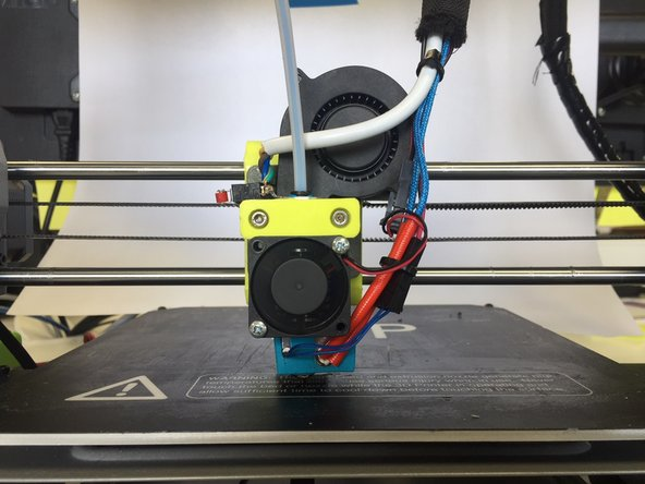 Raise the HotEnd for better access to the nozzle/ heater block.