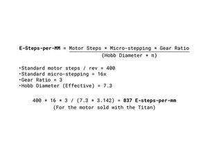 Extruder steps per mm