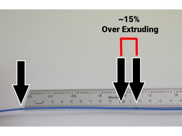 If the distance wasn't exactly 100mm, use a proportion to calculate a more precise E-steps-per-mm value.