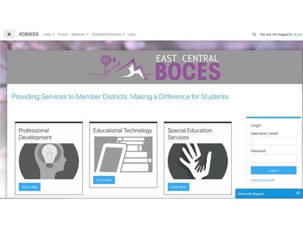 How to log into the ECBOCES Website