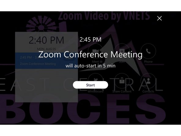 Connecting to a Conference from a Zoom Room