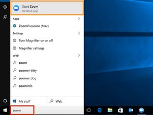 Managing a video conference with Zoom Desktop App