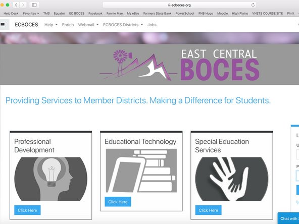 Click HERE to go to the ECBOCES Website.