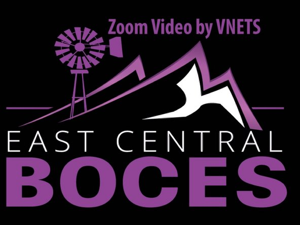The monitors  should be displaying the BOCES Zoom Video by VNETS screen.