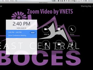 Presenting from a Zoom Room.
