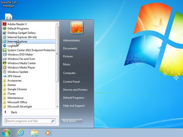 Begin by opening your web browser of choice. Internet Explorer, Chrome or Firefox all work well