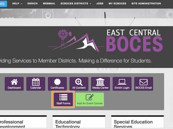 Add an Event for ECBOCES Staff