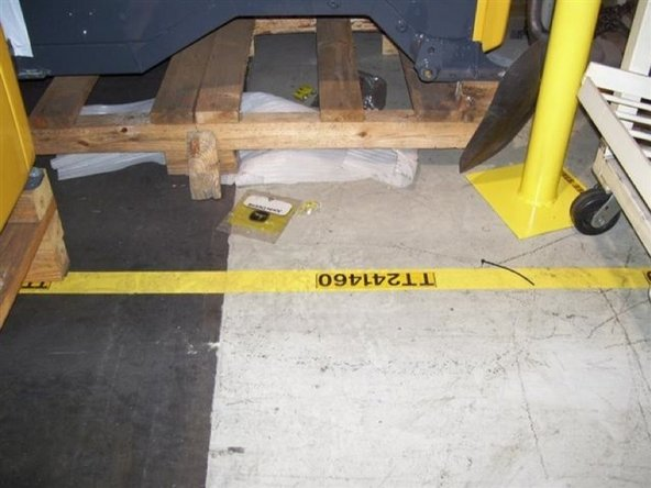 Aisle lines and equipment markings are to standard.