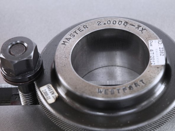 Measure the ring gauge with an inside micrometer or bore gauge. If the Inside Diameter is etched on the Gauge, that number can be used.