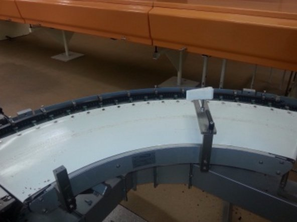 Remove conveyor plexiglass.