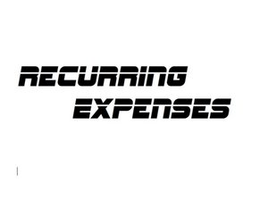 How to Set Up Recurring Expenses