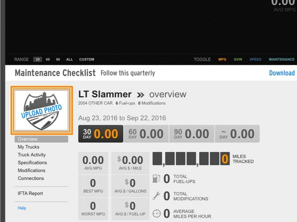 After logging into letstruck.com you'll be taken to your FuelGauges overview.