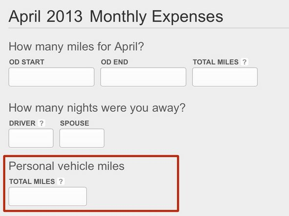 Managing your Personally Owned Vehicle Miles (POV)