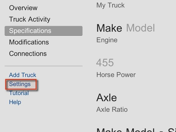 Select your default fuel economy calculation.
