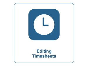 Editing Employee Timesheets