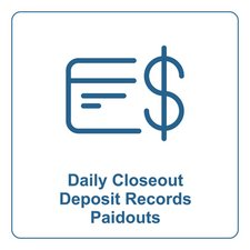 Daily Closeout Deposit Records Paidouts