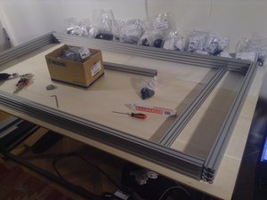 How to build the OSE Lasersaur Frame Gantry