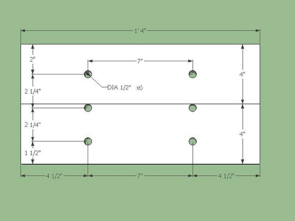 """Cut a single 8""""x16"""" plate according to the dimensions in the Fig. below."""