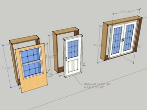 MicroHouse 4 Doors and WIndows