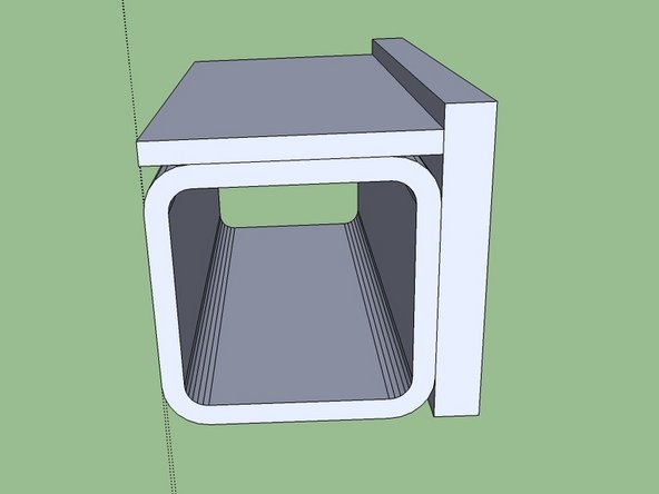 Place the vertical support and tack it in multiple places